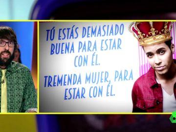 """Quique Peinado analiza la canción de 'El clavo', """"el Amiga mía del reggaeton"""": """"El príncipe Royce quiere ser el pañuelo de lágrimas de la chica y luego...¡pum!"""""""