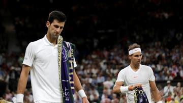 Djokovic y Nadal, en el pista central de Wimbledon