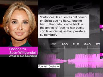 VÍDEO REEMPLAZO | Corinna asegura que parte de las cuentas en Suiza del rey Juan Carlos se acogieron a la amnistía fiscal de Montoro