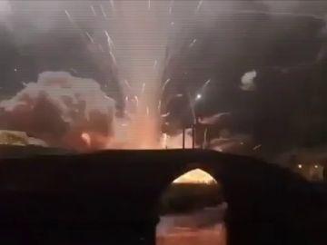 Explosión en un espectáculo pirotécnico en Cangas de Narcea
