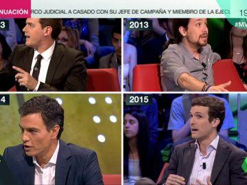 """Jovenes y... ¿preparados? Las diferencias entre Sánchez, Iglesias, Rivera y Casado: """"No hay que disfrazarse nunca en política"""""""