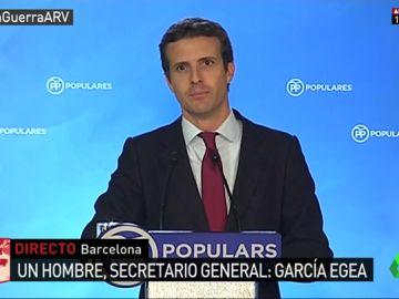 Pablo Casado ante los medios