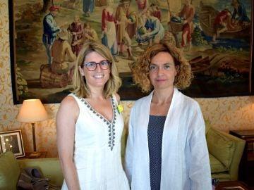 La ministra de Política Territorial y Función Pública, Meritxell Batet, y la consellera de la Presidencia de la Generalitat, Elsa Artadi.