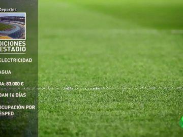 El estadio de la Final de la Supercopa sin luz ni agua y con una deuda de 87.000 euros