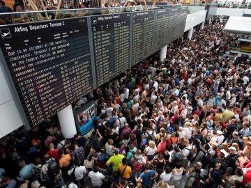 Aeropuerto de Múnich colapsado