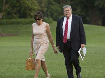 En la imagen los padres de Melania Trump