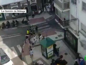 La Policía investiga una multitudinaria pelea en las calles de Nerja, Málaga