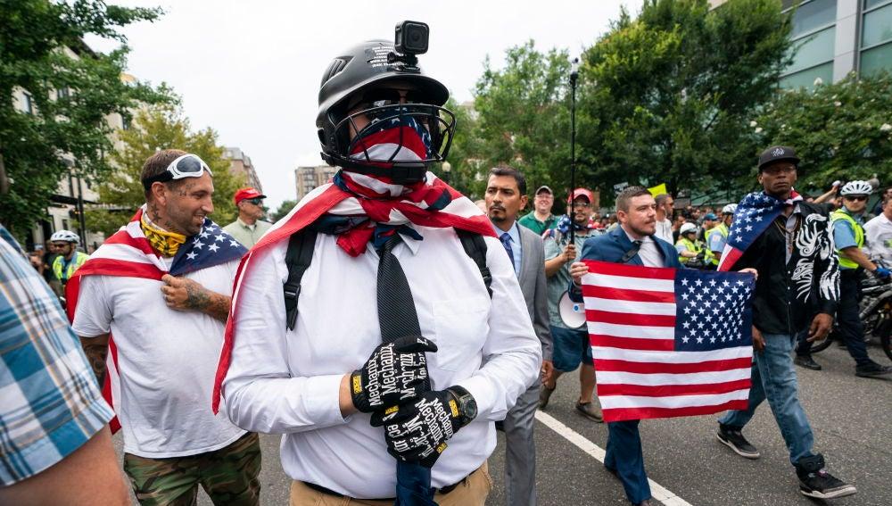 Marcha de supremacistas blancos en Washington