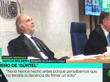 """La defensa de Ortega critica la """"actitud pasiva"""" del juez de Diego: """"Esto no es anecdótico. Son 125 sesiones y el magistrado no se ha dormido sólo en una"""""""