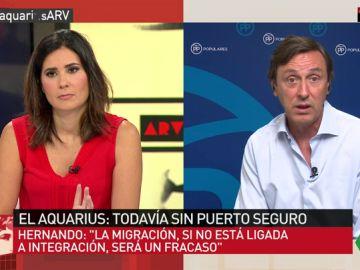 """Rafael Hernando denuncia un efecto llamada: """"Pediría a las ONG que acudieran al puerto más cercano: el de Libia"""""""
