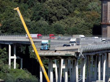 Puente de Morandi que se vino abajo en Génova