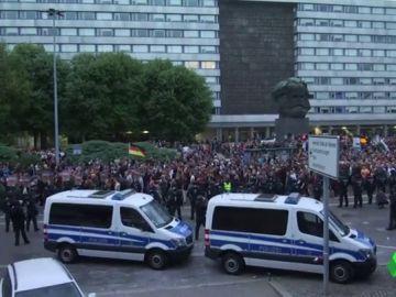 Protestas en la ciudad de Chemnitz