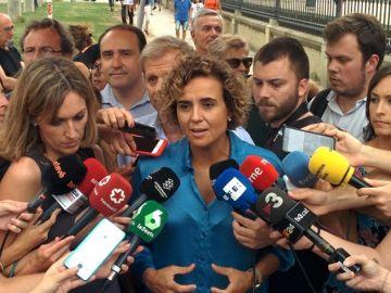 Dolors Montserrat ante los medios