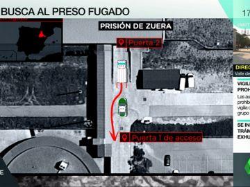 Benito Ortiz continúa fugado de la cárcel de Zuera: así fue la huida de uno de los presos españoles más peligrosos