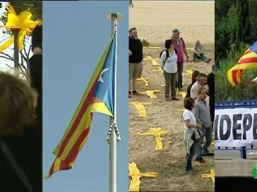 Lazos amarillos, esteladas, cruces, pancartas… ¿es legal poner símbolos políticos en espacios públicos?