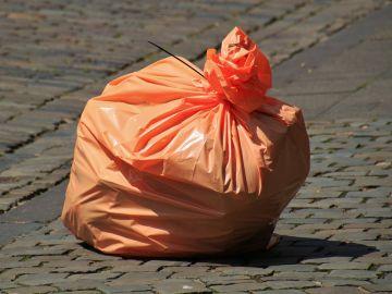 Imagen de archivo de una bolsa de plástico