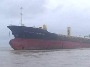 El Sam Ratulangi PB 1600, la 'embarcación fantasma' de Rangún