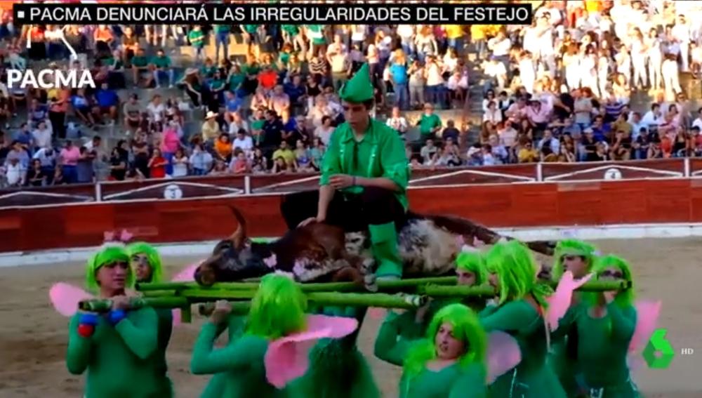 Imagen del festejo taurino en El Espinar, Segovia