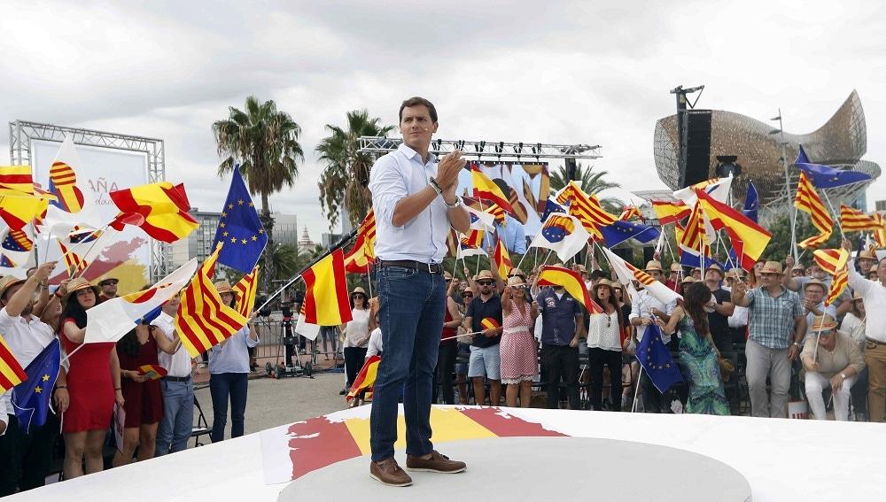 Albert Rivera en el primer acto de 'España Ciudadana' en Cataluña