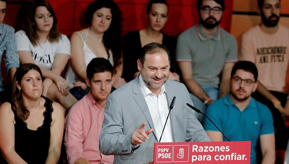 El secretario de Organización del PSOE y ministro de Fomento, José Luis Ábalos