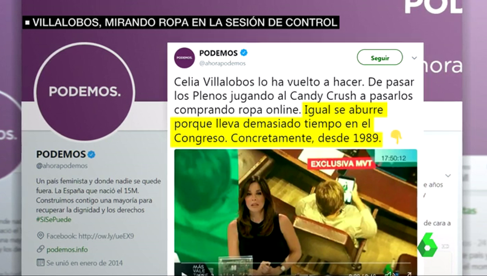 La crítica de Podemos a Celia Villalobos