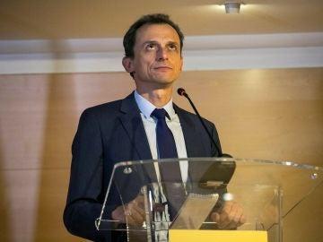 Pedro Duque en su comparecencia ante los medios
