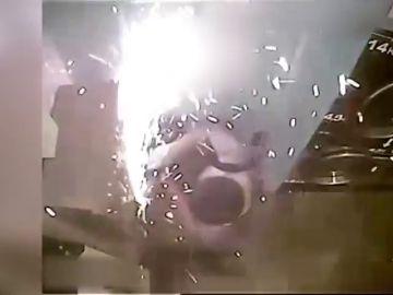 Un hombre asalta la recaudación de una lavandería de autoservicio de Barcelona con una sierra eléctrica
