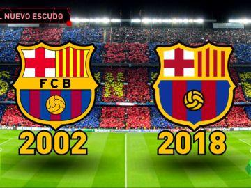 Polémico cambio del escudo del Barça