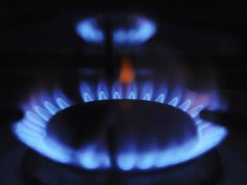 Un quemador de una cocina de gas