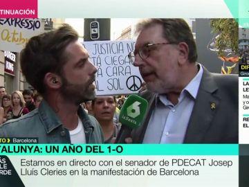 "La tensa entrevista de Yélamo a Josep Lluís Cleries entre gritos e insultos hacia laSexta: ""Muchas gracias por estar aquí"""