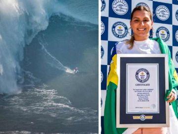 Maya Gabeira y su récord en Nazaré