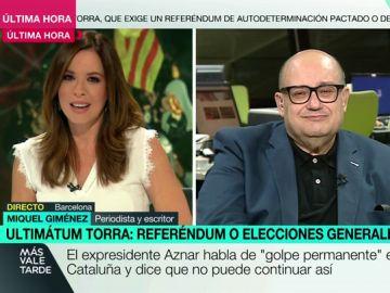 """Miquel Giménez, tras el ultimátum de Torra al Gobierno: """"Temo que en Cataluña vivamos pronto escenas de 'kale borroka'"""""""