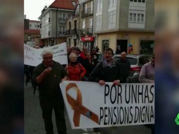 Jubilados se manifiestan en Galicia por las pensiones dignas
