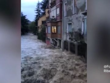 Rio desbordado en Ribes de Freser