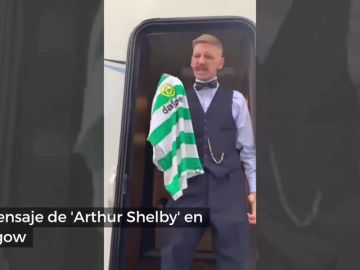 """Mensaje de 'Arthur Shelby': """"Glasgow es verde y blanco, por orden de los Peaky Blinders"""""""