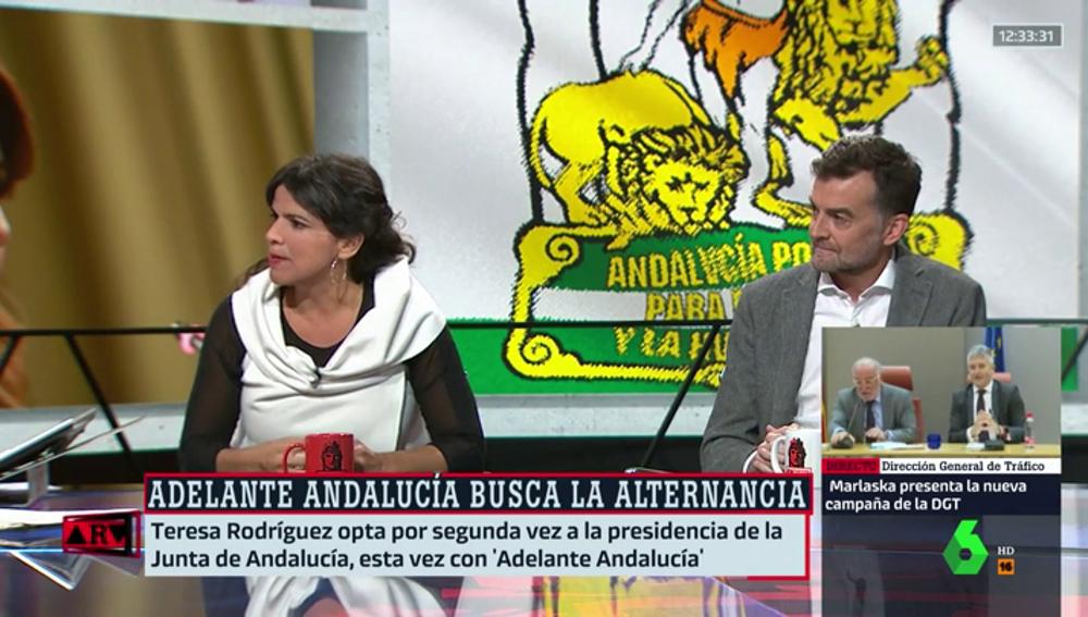 Teresa Rodríguez, candidata a la presidencia de la Junta de 'Adelante Andalucía'