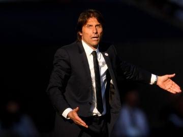 Antonio Conte, durante un partido
