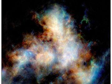 Imagen tomada por el telescopio ASKAP de CSIRO de la Pequeña Nube de Magallanes