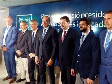 Andreu Subies, junto a Ángel María Villar