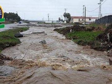 Imagen del caudal del río Seco en Vélez-Málaga