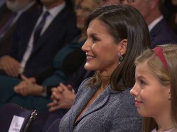 La emoción de la reina Letizia ante las primeras palabras de la princesa Leonor en un acto público