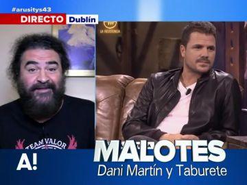 El Sevilla se 'ríe' del pique entre Dani Martín y Taburete