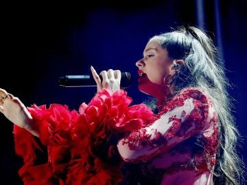 Imagen de Rosalía durante un concierto en Madrid