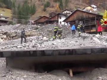 Imagen de los destrozos causados pos las lluvias en Italia
