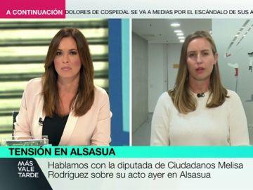 """Melisa Rodríguez: """"Al Gobierno le crispa que hable una víctima del terrorismo, pero no que intentaran reventar nuestro acto"""""""