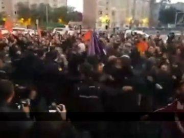 Varios detenidos en una protesta contra un acto de Vox en Murcia