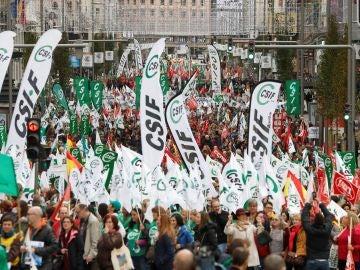 Imagen de archivo de una manifestación de funcionarios en Madrid