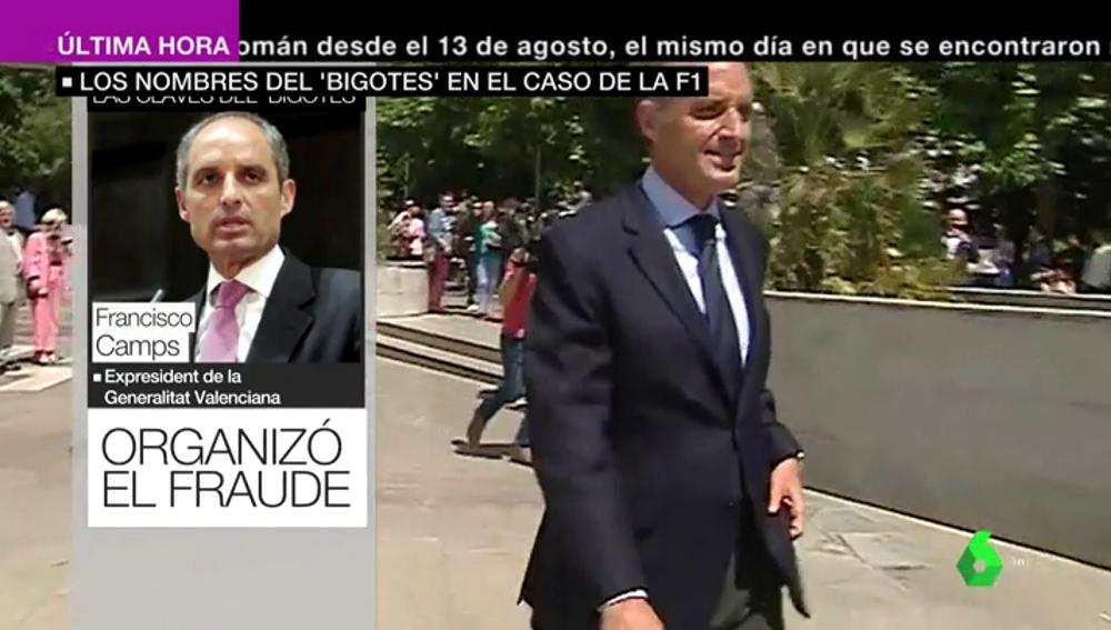 """De quererle """"un huevo"""" a acusarle: 'El Bigotes' señala a Camps en el caso de la Fórmula 1 y apunta a González Pons"""