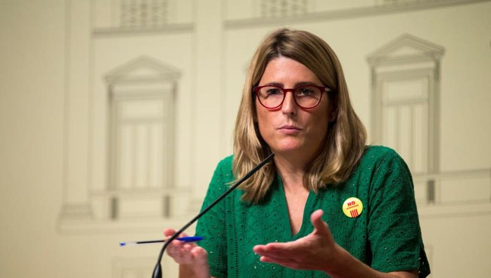 Elsa Artadi en rueda de prensa