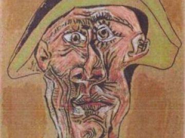 Imagen de archivo del cuadro Cabeza de Arlequín de Picasso